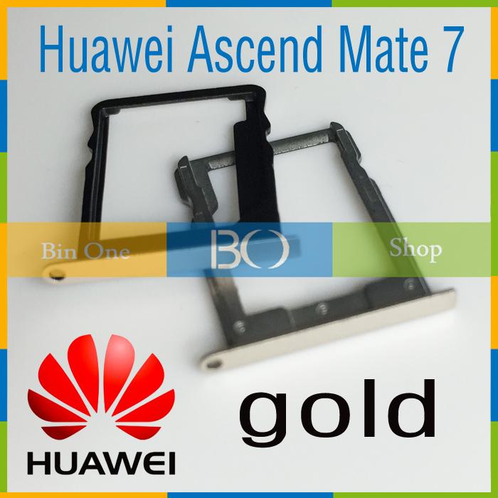 Original for Huawei Ascend Mate 7 / MT7-TL10 SIM Card Tray Holder+ Micro SD mate7 Memory Nano Card Tray Slot Holder Metal