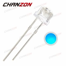 100pcs Straw Hat 5mm LED Diode Water Clear Blue 5 mm High Brightness Transparent Light Emitting Diode LED Lamp 3V(China (Mainland))