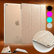 New Luxury Supper Silk Slip Auto Sleep/Wake Up PU Leather Full Body Case for iPad 2/3/4