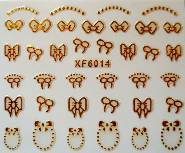 Dropship Art 3D Nail Stickers 6 Sheets Design Beauty Nail Sticker Christmas Snow Snowflake Santa Styling Tools Mix Decals(China (Mainland))