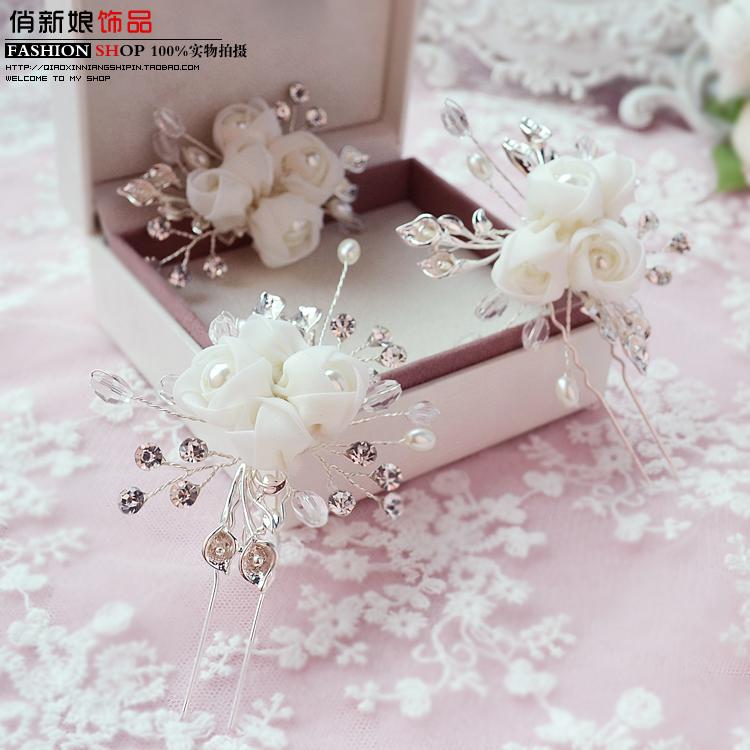 Twilight snow bridal jewelry wedding dress high-end modeling studio makeup dish made hairpin side clip wedding tiara<br><br>Aliexpress