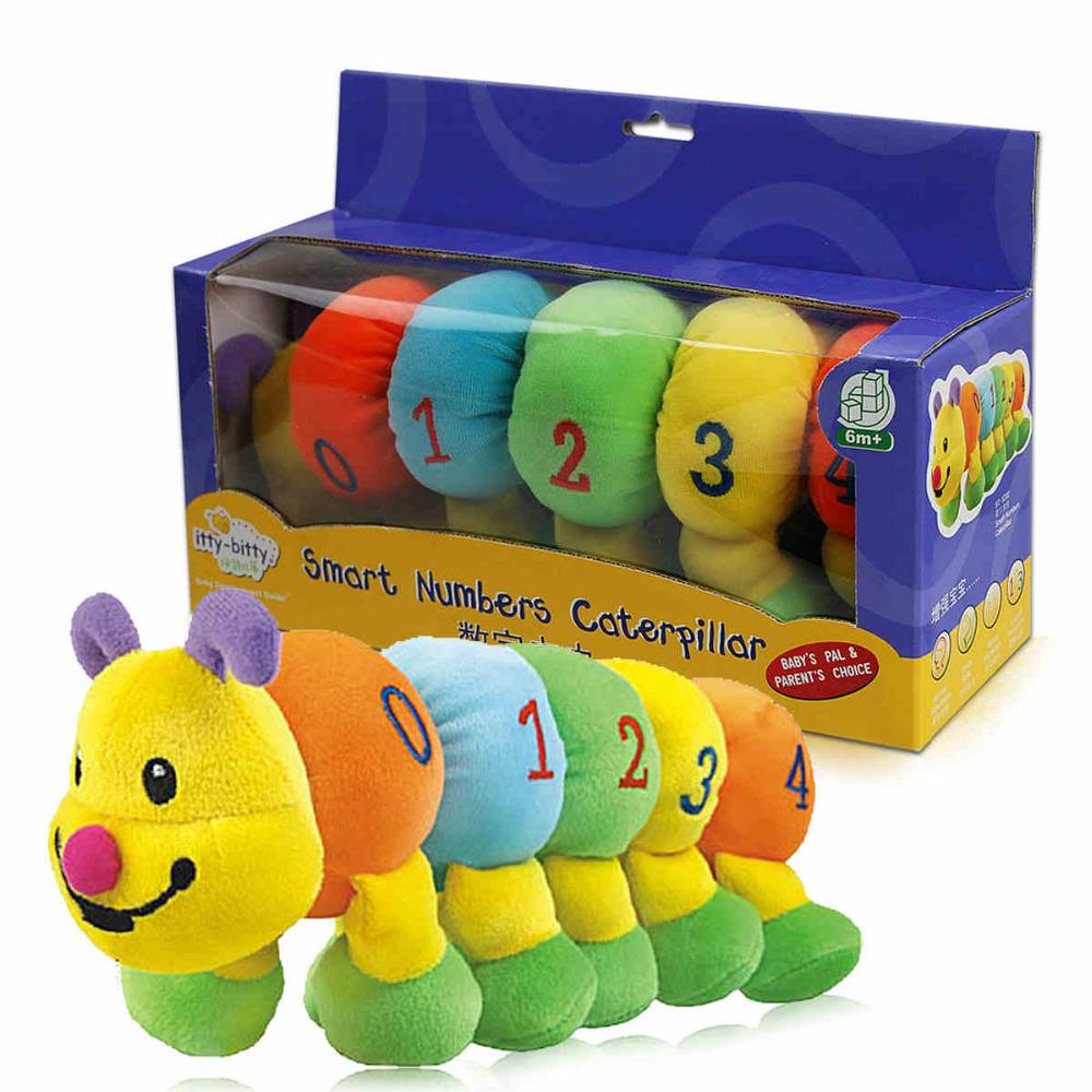 baby infant early development digits identification caterpillar plush toys 0-12 months(China (Mainland))