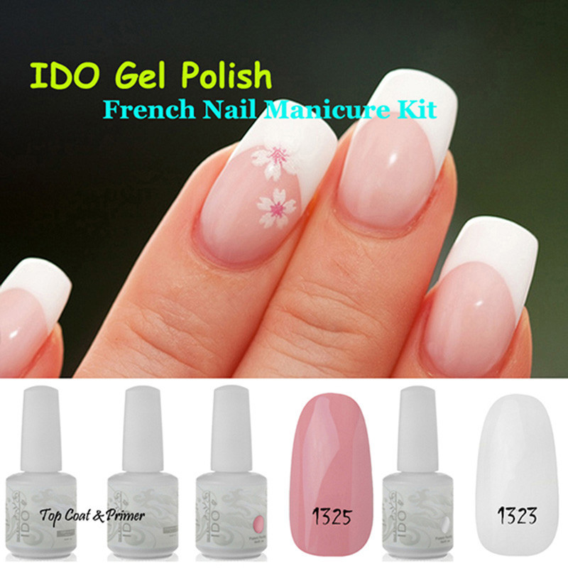 IDO Soak Off Color French Nail 1323+1325+BT Fashionhunt