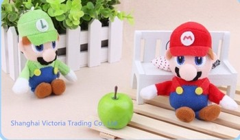 10PCS TOY Sitting Mario Forever Figure DOLL TOY , Mobile Cell Phone Strap Pendant Charm Strap Lanyard Key Chain Charm DOLL TOY