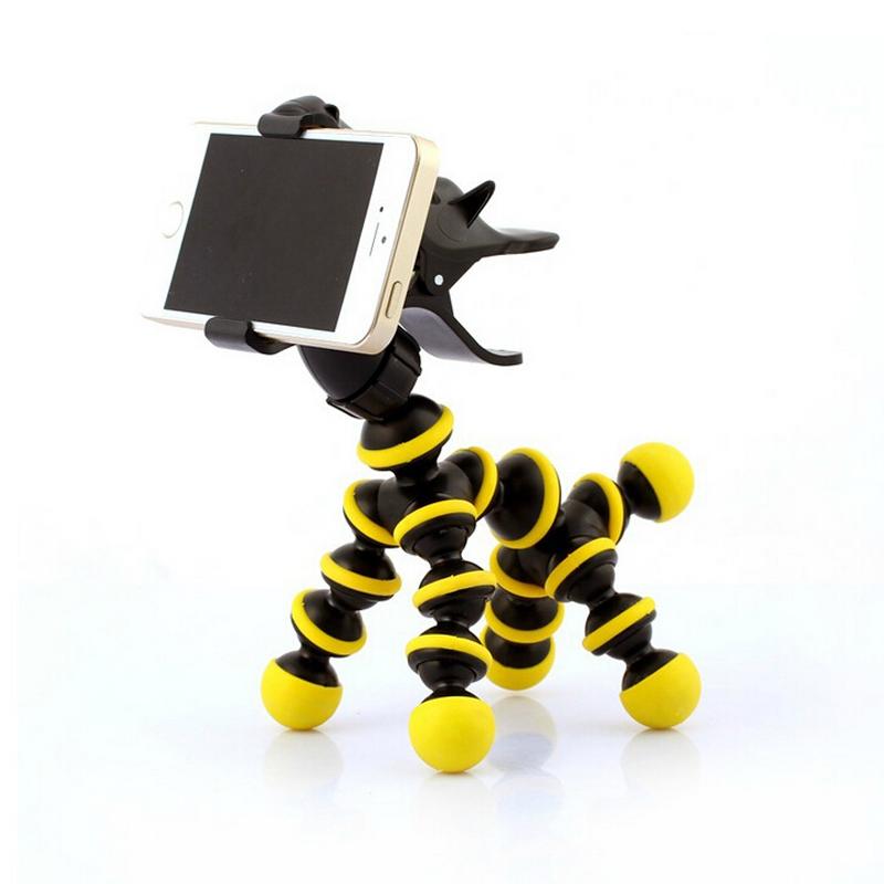 Flexible Horse Style Phone Tripod Monopod Bracket Holder Stand Mount Universal Phone Holder For IPhone 6 5 Samsung HTC LG(China (Mainland))