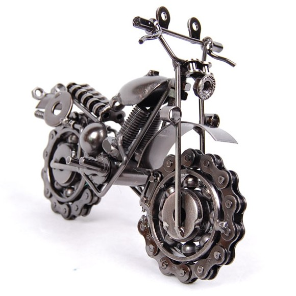 Metal model motorcycle novelty iron crafts decoration for Motorcycle decorations home