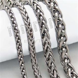 man chain Black Stainless Steel Necklace Free Shipping 3 4 5 6MM Box Link Chain Men Necklaces High Quality Never Fade(China (Mainland))