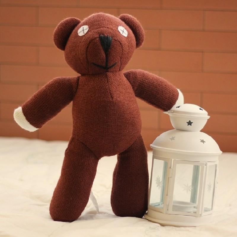 2017 New Cartoon Mr Bean Teddy Bear Animal Stuffed Plush Toy Anime Brown Bear Minifigure Doll For Child Christmas Gift Toys(China (Mainland))