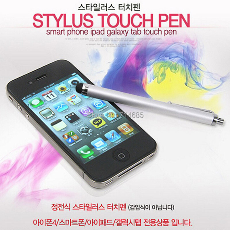 110mm Universal Capacitive Stylus for iPad iPod iPhone 6 Stylus Tablet PC Smart Phone PDA MID Classic Touch Pen(China (Mainland))