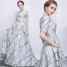白夏ドレス女性 2019 エレガントなセクシーな宴会イブニングフォーマルロングパーティードレスカジュアルプラスサイズスリムボールガウンマキシドレス(China)