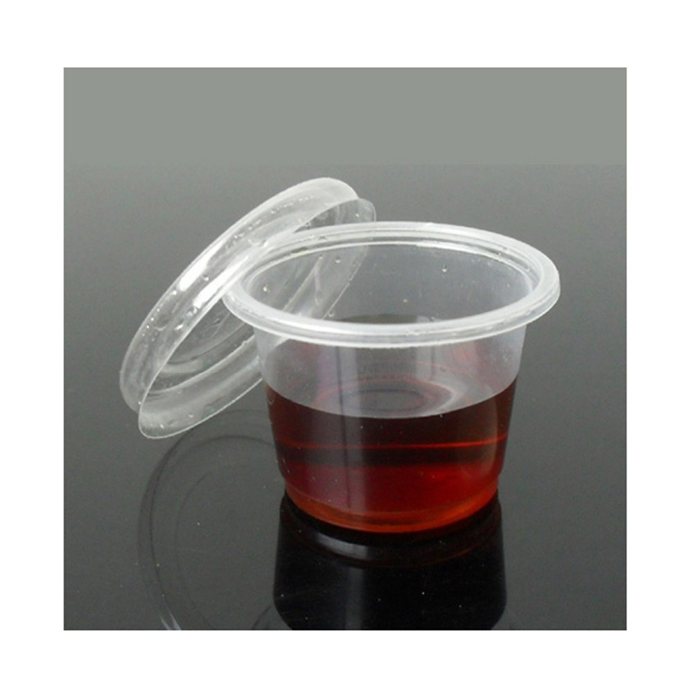 100pc/pack 30ML Disposable Vodka Jelly Shot Glass Cups With Lids