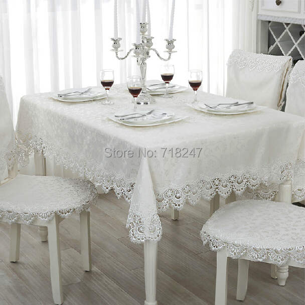 hot sale elegant 100 polyester jacquard lace tablecloth for wedding party home table linen. Black Bedroom Furniture Sets. Home Design Ideas