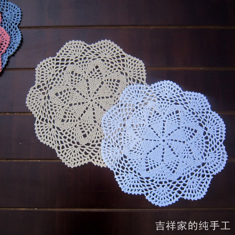 2013 new design 5 pic/lot flower lace crochet doilies as innovative items for home photo props round table coaster placemats(China (Mainland))