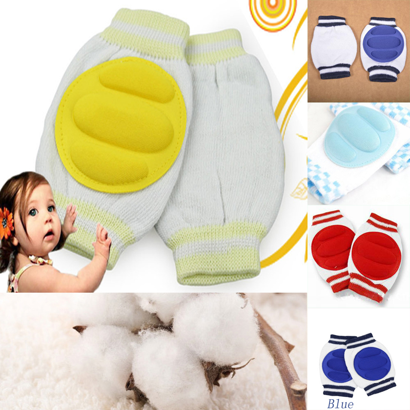 1 Pair 6 Colors Stylish Kids Safety Crawling Elbow Cushion Infants Toddlers Baby Knee Pads Protector Leg Warmers Baby Kneecap(China (Mainland))