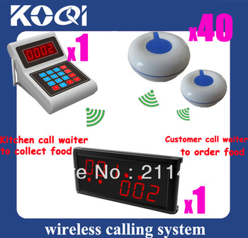 DHL freeshipping help call system Wireless call manufacturer  <1 K-MAIN wireless keyboard +1 display receiver K-236 +40 bells >