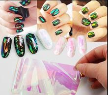 20cm explosions, Japan and Korea Symphony irregular broken glass mirror foil nail sticker nail Aurora glass paper