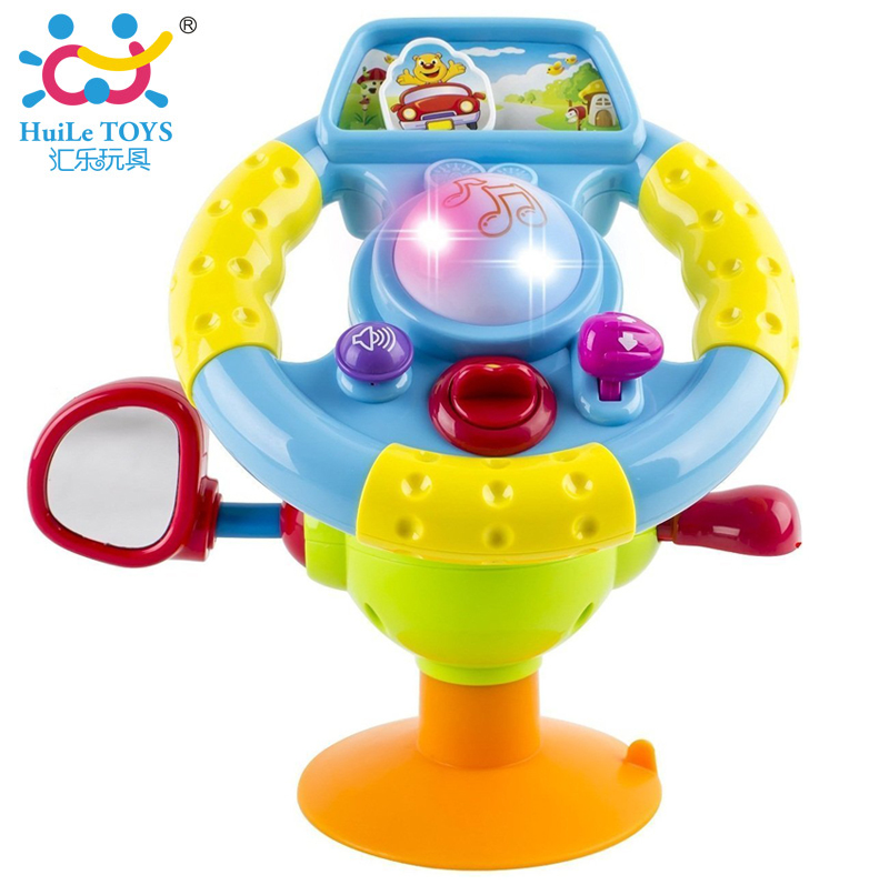 Baby Plastic Steering Wheel Toy Light Music Toy Kids Toys Educational Development Learn and Discover Driver Toy Huile Toys 916(China (Mainland))