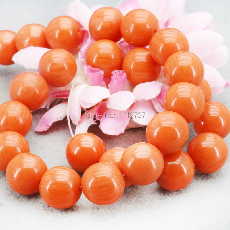 14mm Orange Imitation Beeswax Jewelry Amber Stone Loose Stripe Round Beads Yellow Opaque Resin Accessories DIY 14mm Lucky Beads(China (Mainland))