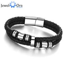 Новинка из нержавеющей стали китай мужчины браслет из натуральной кожи для мужчин браслет мужчины ювелирные изделия ( JewelOra BA101174 )(China (Mainland))