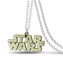 High quality Star Wars Jewelry Metal Letter pendant necklace for Men women Silver & Bronze  Charm Necklace Hip-hop Punk Chain(China (Mainland))