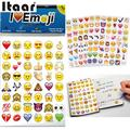 New Lovely 48 Die Cut Emoji Smile Sticker for Laptop for notebook message High Vinyl funny