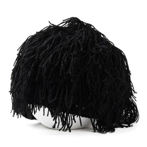 NaroFace Handmade Knied Men Winter Crochet Mustache Hat Beard Beanies Face Tassel Bicycle Mask Ski Warm Cap Funny Hat Gift