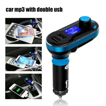 3-in-1 Universal Car Kit MP3 Player FM Transmitter Car modulator radio Dual Port SD Car Charger + Remote Control for iPhone