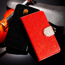 Buy PU Leather Flip Case Bling Diamond Phone Case Cover HTC Desire 210 Dual Sim 4.0 inch Wallet Case Glitter Holster HTC 210 for $2.94 in AliExpress store
