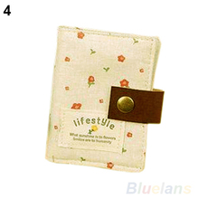 2014 New fahsion Women US Slot Floral Credit ID Card handbag Wallet Purse Holder Pouch Coin