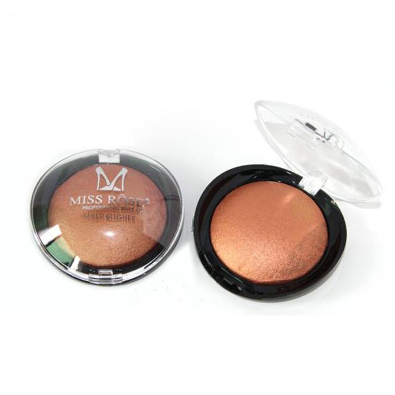 1PC Women Hot Sale Bronzer Blush Palette Face Makeup Baked Cheek Color Blusher Professional paleta de blush from Miss Rose Brand(China (Mainland))