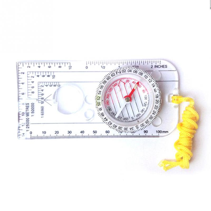 Mini Baseplate Compass Map Scale Ruler Outdoor Camping Hiking Cycling Scouts Military Compass(China (Mainland))