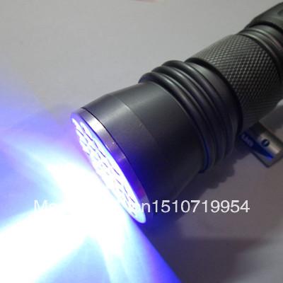 Free Shipping New 21 LED Aluminum Alloy 395-400nm UV Ultra Violet Flashlight Blacklight Torch Y1014 JqN5y(China (Mainland))