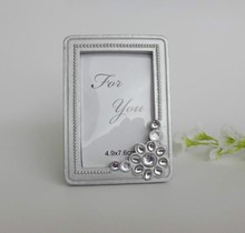 Silver rhinestone small frame wholesale Mini-branch Elegant Place Card Holder Photo Frame(China (Mainland))