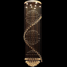 Free shipping wholesale Modern brief spiral crystal chandelier, Dia50*H180cm three ball lustre home lighting(China (Mainland))