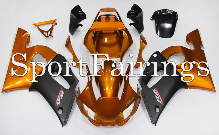 Fairings Fit Yamaha YZF600 R6 Year 98-02 1998 1999 2000 2001 2002 ABS Motorcycle Fairing Kit Bodywork Cowling Gold Black Matt