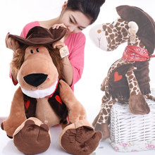 New Hot Biggest 80cm Germany Nici Cowboy Series Plush Toy Lion Tiger Giraffe Child Birthday Christmas Gifts 1pcs