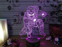 (Spiderman) Fantastic 3D LED Light Lamp Kids Bedroom Lamp(China (Mainland))