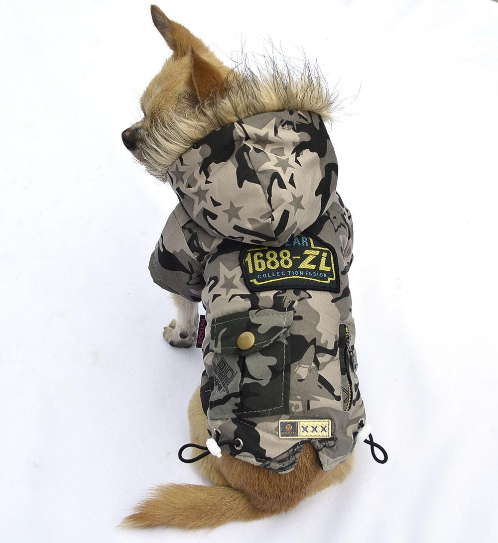Camo Dog Jacket Small