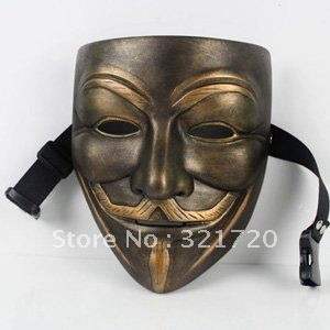 Hot Fashion Free shipping High-grade delicate resin V mask Is worth to collect