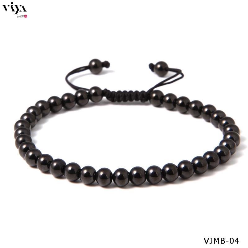 High-end Brand Men Black Bead Woven Bracelet For Mens Famous Watch 6 mm Round Beads Braiding Anil Arjandas Men Macrame Bracelet<br><br>Aliexpress