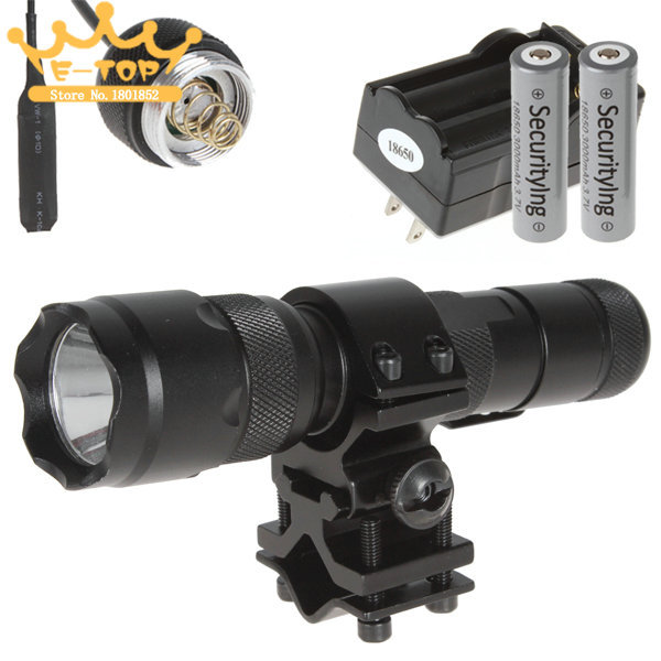 CREE XML T6 1000LM LED Flashlight Torch Bicycle Flash Light + Battety + Charger + Remote Pressure Switch + Holder(China (Mainland))