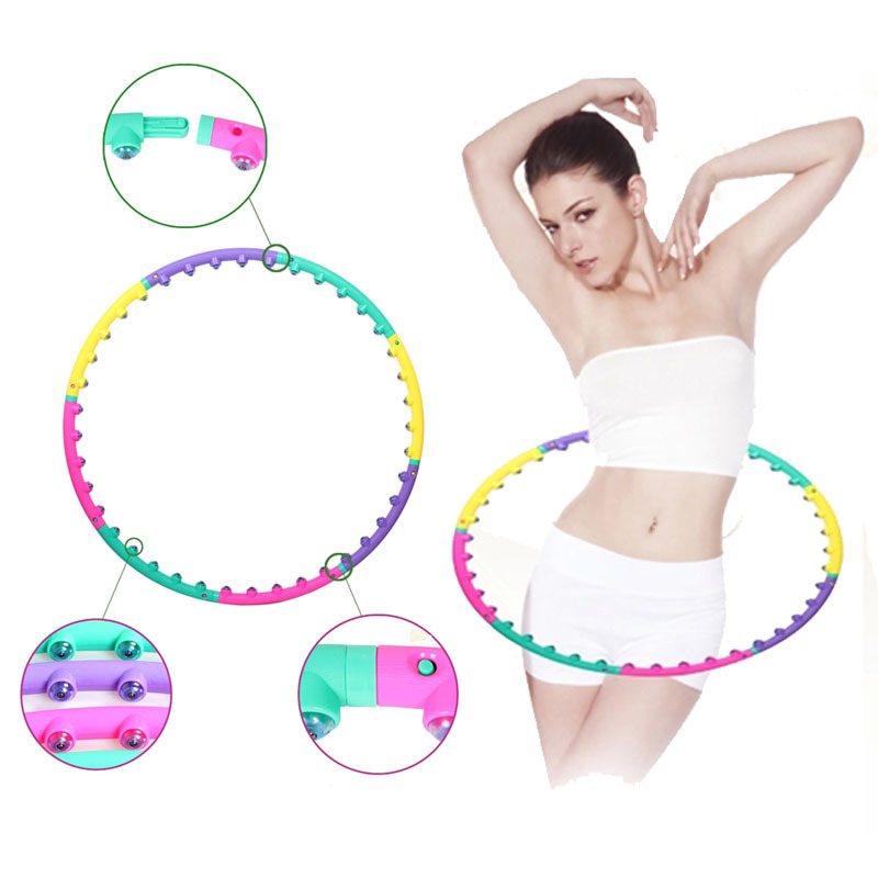 2015 NEW magnet fitness hula hoop massage hoops hula-hoop for children kid bodybuilding for women hoops(China (Mainland))