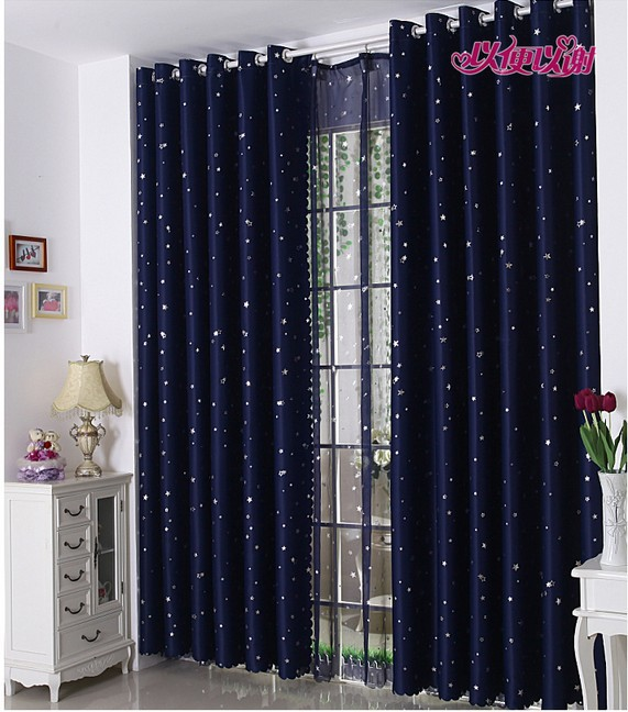 Free Shipping Fashion Curtains Living room &Balcony Pleated Curtain Finished Curtain Rural Style Ready-made Hooks & Eyelet B0750(China (Mainland))