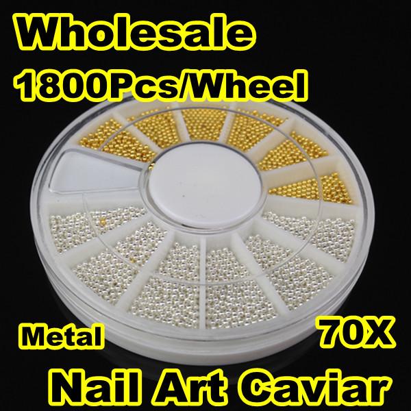 [PFZ-009] Wholesale 70X1800Pcs/Wheel Tiny Circle Bead Decoration 3D Nail Art Caviar+ Free Shipping<br><br>Aliexpress