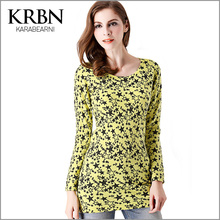 women autumn winter sweater 2015 casual plus size women clothes pullovers long star print sexy thin wool knit sweater XF013-0907(China (Mainland))
