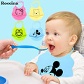 2016 new design Baby bibs waterproof silicone feeding baby saliva towel wholesale newborn cartoon waterproof aprons