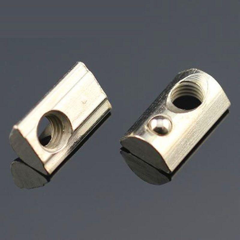 extrusi/ón de aluminio y ranura en V Tuercas M5 de doble punta para 20 perfiles