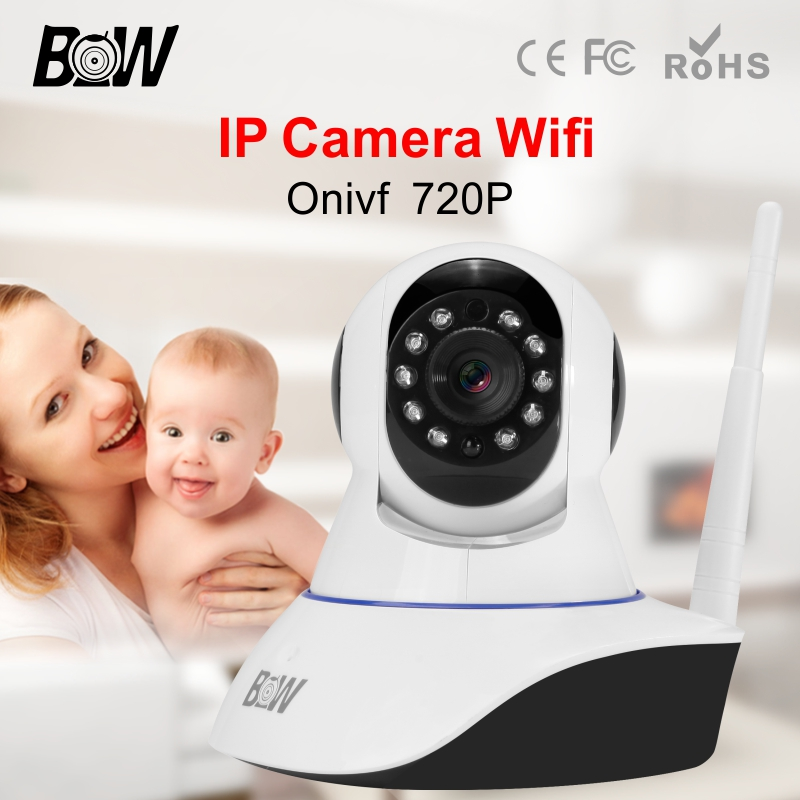 Dome Wifi IP Camera Surveillance System Security Network Wireless Onvif PnP Android IOS Remote Control Camera Alarm BW-IPC002S(China (Mainland))