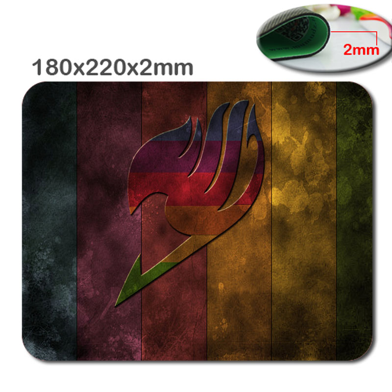 Custom fashion fairy tail logo mouse pad high definition printing game mouse pad cheap padmouse mouse pad pad computer desk(China (Mainland))