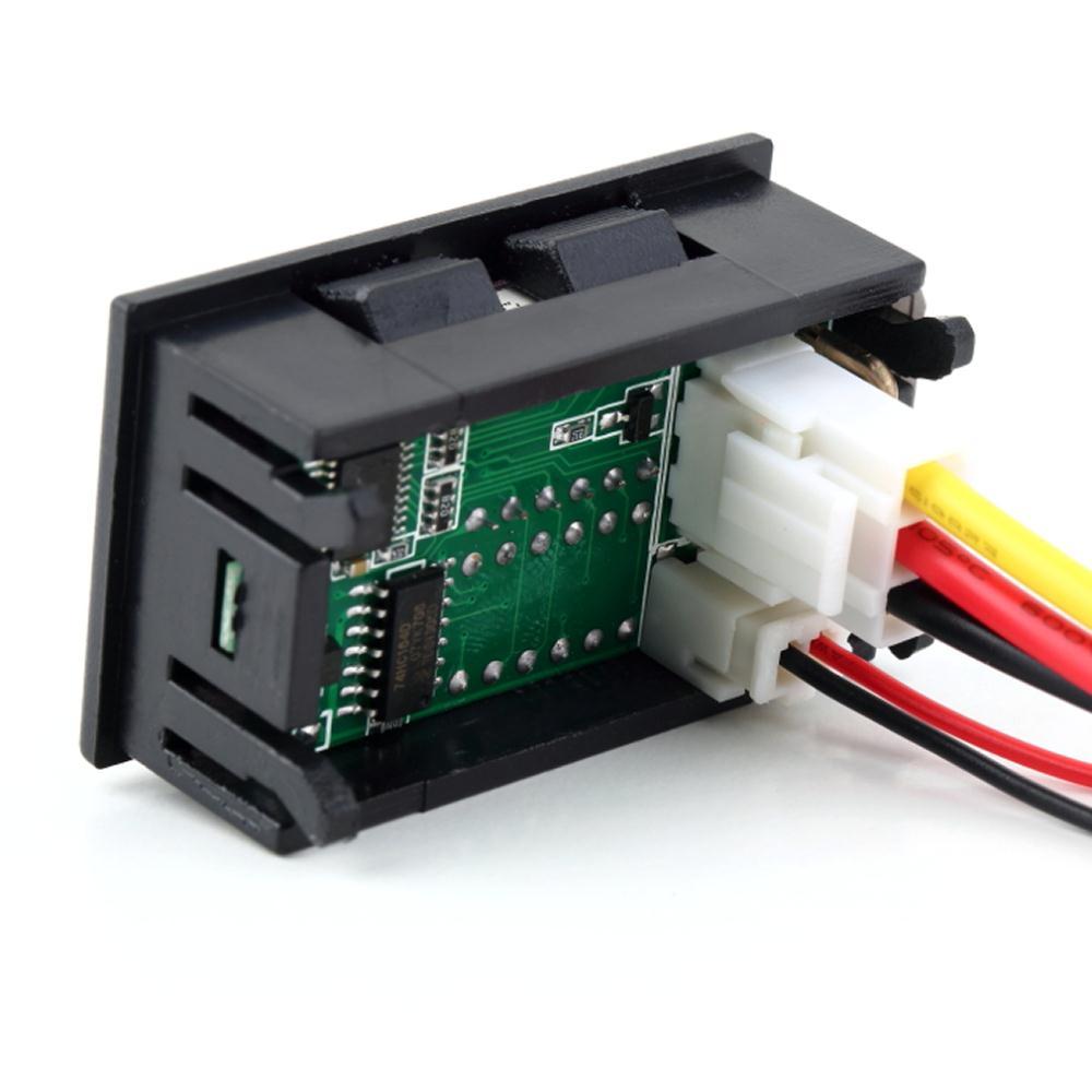 1шт постоянного тока 0-30В 10А вольтметра